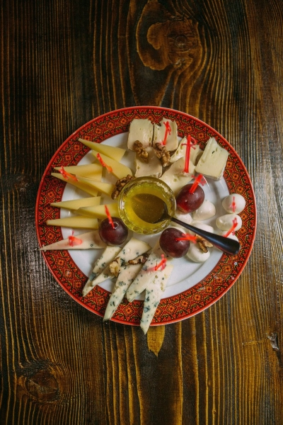 Assortment of fine cheeses